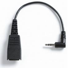 GN-8800-00-46 Jabra - kabel rovný, konektory QD/2,5 mm, pro telefony s 2,5 mm konektorem, 15 cm