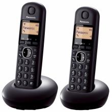 KX-TGB212FXB Panasonic - DECT bezdrátový telefon s displejem, CLIP, 2 sluchátka barva černá