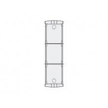 PL73, zápustná montážní krabička pro tři moduly nad sebou