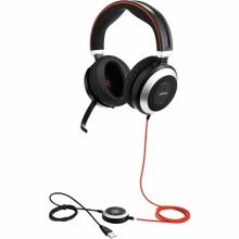 EVOLVE-80-DUO-MS Jabra - náhlavní souprava pro PC a mobil, USB+3,5 mm jack, spona přes hlavu, na obě uši