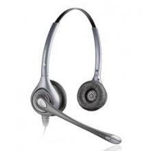 HW361N/A Plantronics - SupraPlus náhlavní souprava, na obě uši, spona přes hlavu, NC, stříbrná (82313-41)