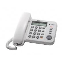 KX-TS580FXW Panasonic - jednolinkový tel., displej, hlasitý tel., CLIP, barva bílá