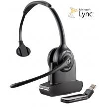 SAVI-W410-M Plantronics - bezdrátová DECT náhlavní souprava pro PC, dosah až 100 m, přes hlavu na jedno ucho