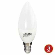 CL140540-4 Tesla - LED žárovka CANDLE svíčka, E14, 5W, 230V, 470lm, 15 000h, 4000K studená bílá, 180°