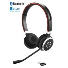 EVOLVE-65-DUO-MS Jabra - bezdrátová náhlavní souprava pro PC, Bluetooth, NFC, spona přes hlavu, na obě uši
