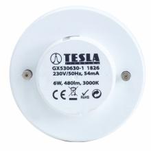 GX530630-1 Tesla - LED žárovka, GX53, 6W, 230V, 480lm, 30 000h, 3000K teplá bílá, 180°