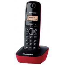 KX-TG1611FXR Panasonic - DECT bezdrátový telefon, 1-řádkový podsvícený displej, CLIP, české menu, barva červená