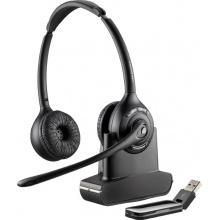 SAVI-W420 Plantronics - bezdrátová DECT náhlavní souprava pro PC, dosah až 100 m, přes hlavu na obě uši