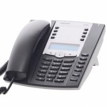 6730a Mitel / Aastra - analogový telefon s LCD,  tlačítko příjmu a ukončení hovoru pro náhlavní soupravu