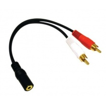 Audio kabel jack - 2x RCA (cinch) samička - samec