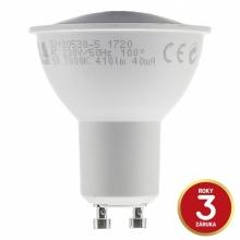 GU100530-5 Tesla - LED žárovka GU10, 5W, 230V, 410lm, 25 000h, 3000K teplá bílá, 100°