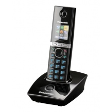 KX-TG8051FXB Panasonic - DECT bezdrátový telefon, SMS, GAP, CLIP, telefonní seznam 200 jmen, černý