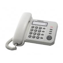 KX-TS520FXW Panasonic - domácí telefon s praktickými funkcemi, LED indikace, 3x jednotl. volba, bílá
