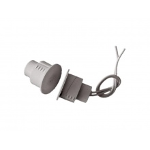 SD-70 bílý, závrtný krátký masivní magnetický kontakt, 2 vodiče, zápustná montáž, bílá barva