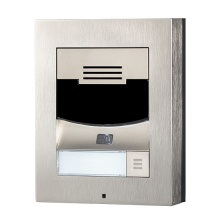 ATEUS-9155301CS 2N IP Solo, dveřní interkom, 1 tl., HD kamera, povrchová montáž (vč. rámečku), nikl
