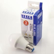BL270640-5 Tesla - LED žárovka BULB, E27, 6W, 230V, 470lm, 25 000h, 4000K studená bílá, 270°