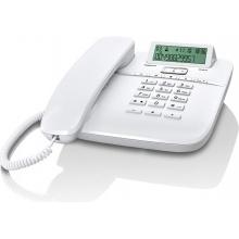 GIGASET-DA610-WHITE Gigaset - standardní telefon s displejem, CLIP, 10 kláves rychlé volby, handsfree, barva bílá