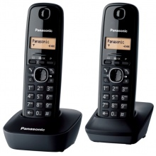 KX-TG1612FXH Panasonic - DECT bezdrátový telefon, 1-řádkový displej, 2 sluchátka, CLIP, barva šedá