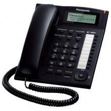 KX-TS880FXB Panasonic - jednolinkový telefon, displej, CLIP, konektor pro n.s. 2,5mm, speakerphone, barva černá