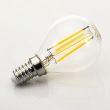 MG140427-3 Tesla - LED žárovka CRYSTAL RETRO miniglobe E14, 4W, 230V,470lm, 10 000h, 2700K teplá bílá, 360°čirá