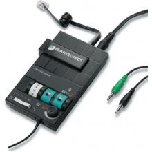 MX-10 Plantronics - přepínač/zesilovač mezi telefonem a počítačem pro náhlavní soupravy řady