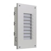 ATEUS-9135515E 2N Vario, antivandal maska a zápustná krabice pro rozšiřující modul, 8 tlačítek (Analog/IP)