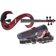 Stagg EVN 4/4 MRD - elektrické housle, celé,  červená metalíza