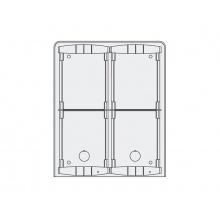 PL94, povrchová montážní krabička se stříškou pro 4 moduly