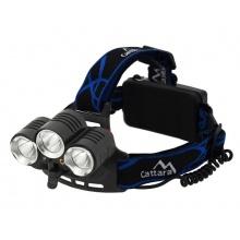 Svítilna čelovka CATTARA LED 400lm (1x XM-L+2x XP-E)