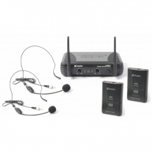 Skytec VHF mikrofonní set - 2 kanálový, 2x náhlavní mikrofon