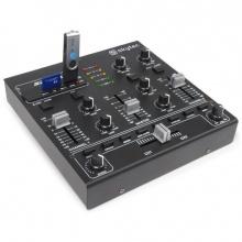Skytec STM-2290, 4 kanálový mixáží pult s MP3 přehrávačem a BT