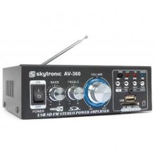 Hi-Fi zesilovač - 2x 40W FM / USB / SD