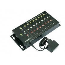 Eurolite VSD-108, 8-kanálový distributor AV signálů