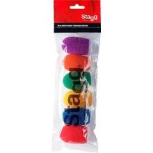Stagg WS-S20/C6 - sada barevných mikrofonních krytů, 6ks