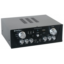 Karaoke zesilovač - FM / USB / SD, černý
