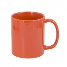 Hrnek pro potisk bílým tonerem - barva oranžová