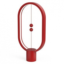Lampa LED stolní HENG BALANCE ELLIPSE PLASTIC USB RED