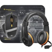 Defender Warhead MP-1600, Myš drátová + sluchátka + herní podložka