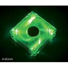 Ventilátor AKASA Bright Green, 120 x 25mm, kluzné ložisko, tichý