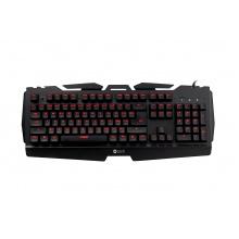 Herní klávesnice C-TECH Echion (GKB-37), pro gaming, CZ/SK, mechanická s Kailh RED spínači, 7 barev podsvícení, programovatelná, U