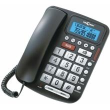 C-5030-CERNA Concorde - šňůrový telefon s velkými tlačítky, LCD, barva černá