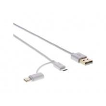 Kabel USB 2.0 - A/M-Micro B/C SCO 522-015 WH