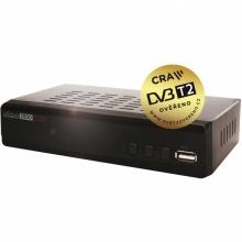 HD2800 Alma - DVB-T2 H.265, HEVC přijímač s možností nahrávání, 1x SCART, 1x HDMI, USB, RF modulátor