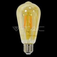 VT-1966-4362 V-TAC LED žárovka Crystal Gold E27, 6W, 230V, 500lm, 20 000h, 2200K teplá bílá, 300°, čirá
