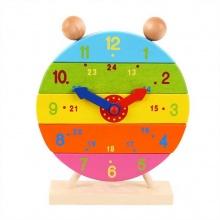 Bigjigs - Dřevěné nasazovací hodiny