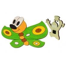 DoDo Dřevěná dekorační magnetka motýl zelený