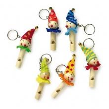 Small Foot Dřevěné přívěšky na klíče píšťalka klauni 1 ks