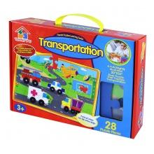 puzzle 28 pěnové - farma/dopravní prostředky (od 3 let)