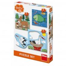 puzzle baby 3-5 - zvířátka kde žijí (od 2 let)