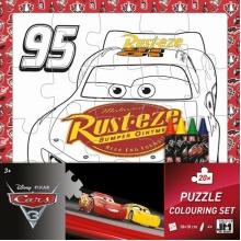 puzzle k vymalování Cars 3 (od 3 let)